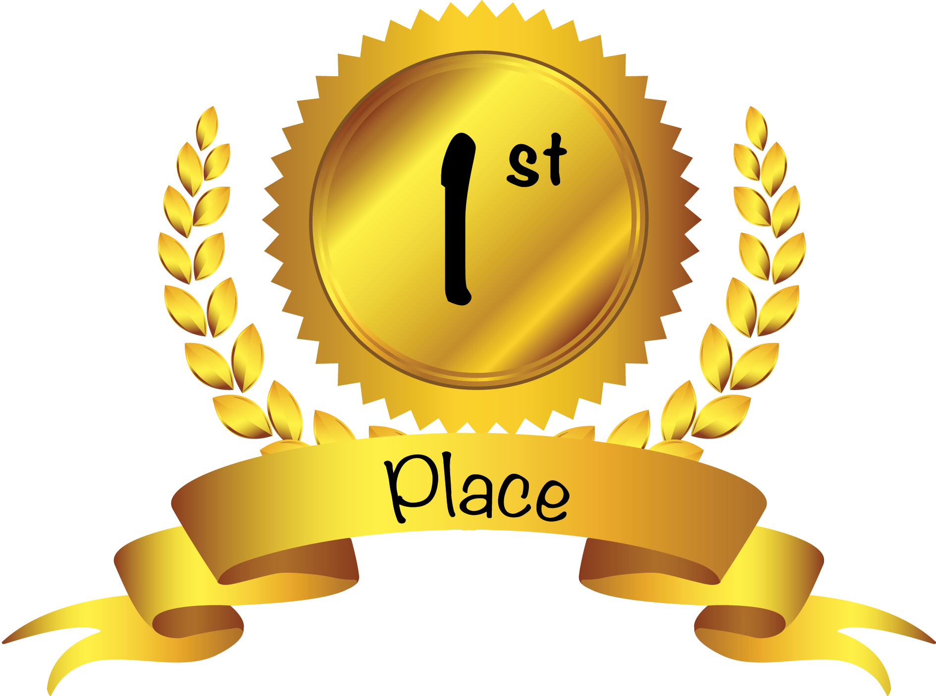 1st place award clipart gold prizes loyalty contest background creativity female finishers male drum final round libor yale prize dec